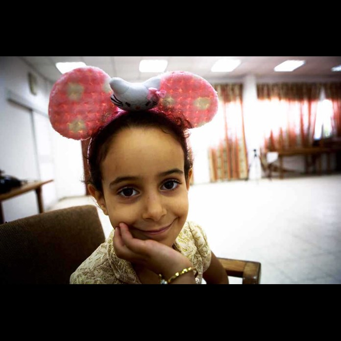 A young girl at one of Al Ahli Hospital's 'Days Of Joy' in Gaza City.