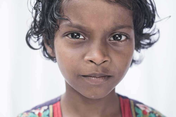A young Indian girl from Karunalaya, our street-child project in India.