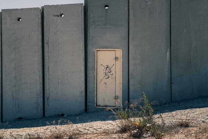 A small door in the middle of the illegal Israeli Separation Wall – West Bank 2017