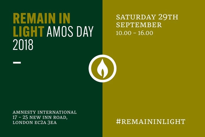 Remain In Light – Amos Day 2018