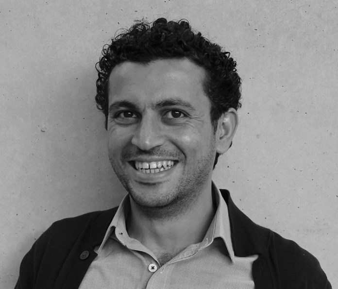 Palestinian writer, director, playwright, curator and Amos Trustee, Ahmed Masoud.