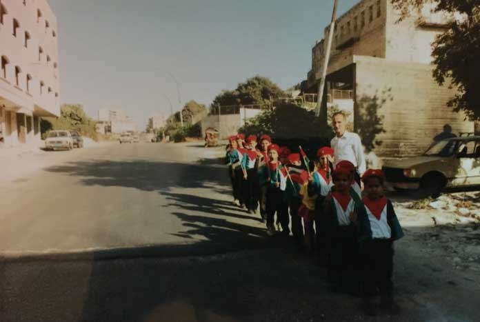 Pre-school children processing in Jerusalem, 1987