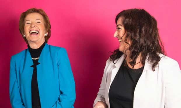 Mary Robinson (left), former president of Ireland, and comedian Maeve Higgins.