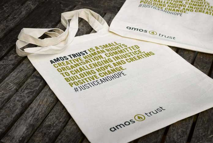 The new Amos Trust Tote Bag