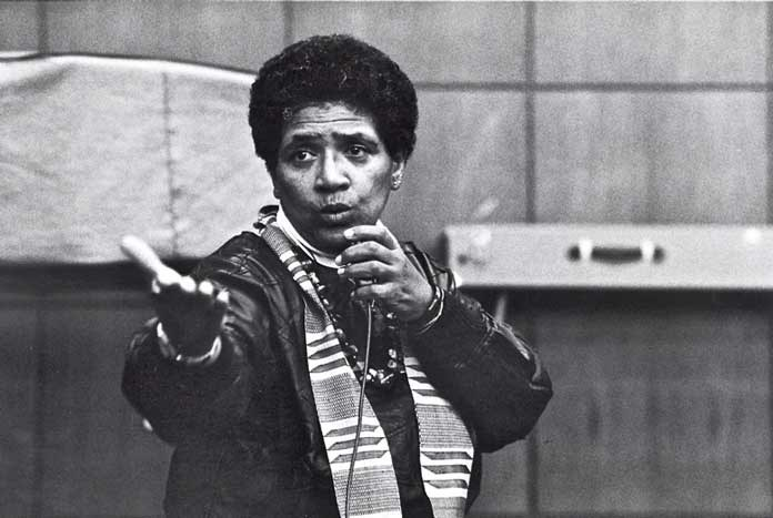 Poet and feminist activist Audre Lorde.