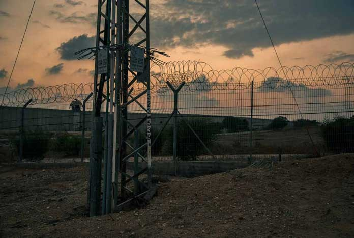 The border between Israel and the Gaza Strip.